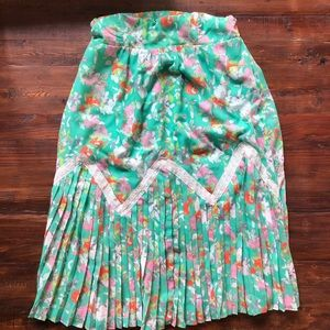 Anthropologie Multicolor Midi Skirt with Pleats